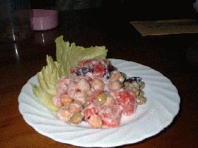 トマトの豆豆サラダ