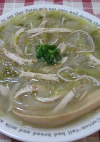 高たんぱく低カロリー!白菜と鶏のスープ♪