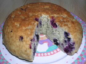 炊飯器 de cafe風ブルーベリーとバナナのケーキ