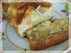 りんごとさつまいもの簡単パウンドケーキ
