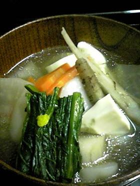 野菜たっぷりけんちん汁(圧力鍋で5分)