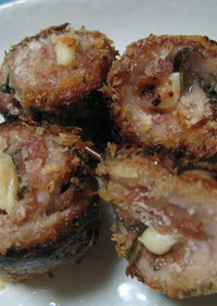秋刀魚の梅しそチーズ巻き