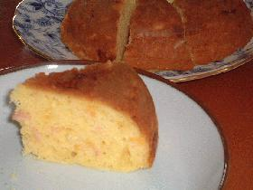 炊飯器ケーキ♪ 今度はブランチ風 ハム&コーン