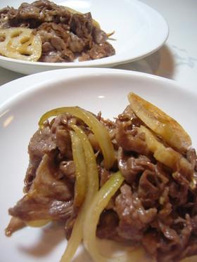 簡単☆レンコンと牛肉のオイスター炒め