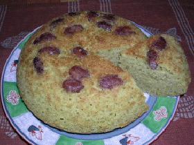 抹茶アイスと金時豆 de 炊飯器ケーキ