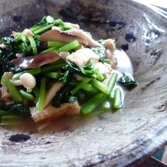 小松菜ときのこと揚げの煮びたし