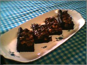 キャラメルチョコレートブラウニー♪いっぱい食べてみたい♪