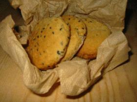 オートミール入り胡麻クッキー