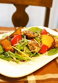 秋刀魚&秋野菜✿揚げ盛りサラダ♫