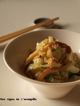 ウチの定番・玉菜炒り(キャベツ炒め)。