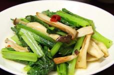 エリンギと小松菜のにんにく塩炒め