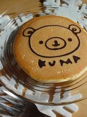 ホットケーキミックスでお絵かきパンケーキの写真