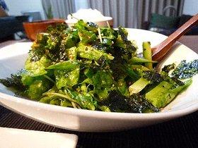 サンチュと韓国のりのサラダ