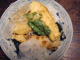 野菜天ぷら。のり弁 どんぶり