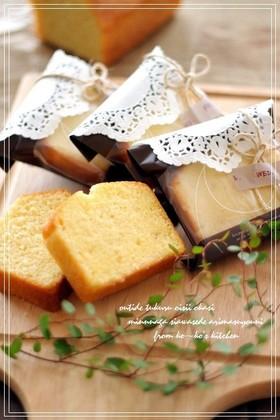 しっとりバニラパウンドケーキ