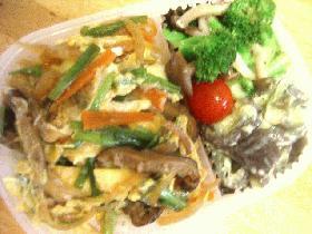 野菜の卵とじ丼弁当