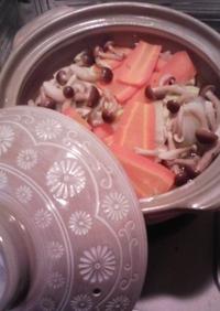 土鍋で温野菜鍋