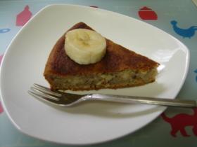 一手間でおいしさ↑バナナとおからのケーキ