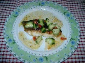 白身魚のソテー マリネソース
