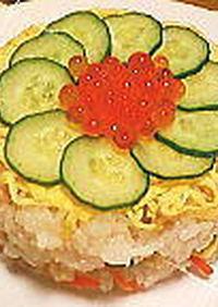 お花みたい✿簡単ちらし寿司ケーキ
