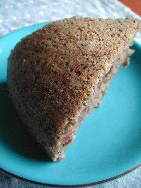 小豆とゴマで和ケーキ風☆炊飯器ケーキ