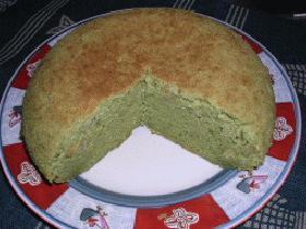 炊飯器 de 青汁ケーキ