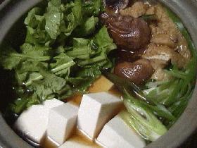 大根菜でハリハリ風鍋