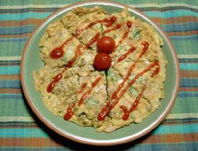 レンズ豆のスパニッシュオムレツ