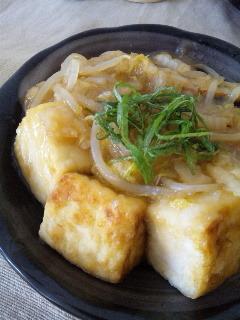 もやし餡の豆腐ステーキ