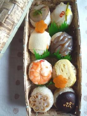 おせちの残りで手まり寿司