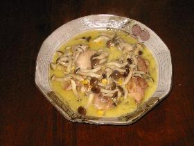 鶏肉のコーンスープかけ
