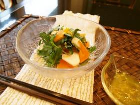 柿とかぶの香りサラダ