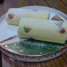 和・カラフル・カンタンロールケーキ