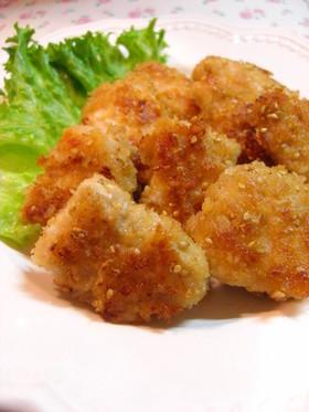 ✿鶏肉のにんにく醤油ごまパン粉焼き✿