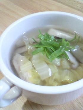 あったまろう❤白菜とささみの中華スープ