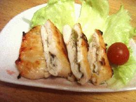 鶏肉のチーズサンド焼き