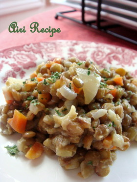 フランスのお惣菜☆レンズ豆のサラダ