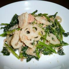 レンコンと小松菜の明太炒め
