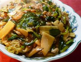 椎茸好きさんへ優しい味のあんかけ焼そば✿