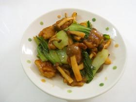 チンゲン菜と豚肉の中華風ピリ辛炒め
