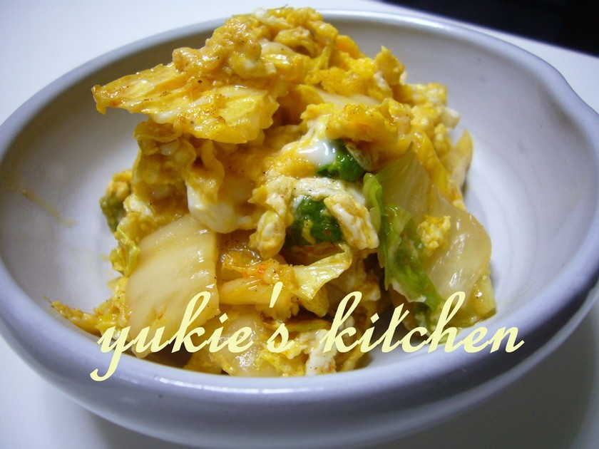 キムチと卵だけ炒め