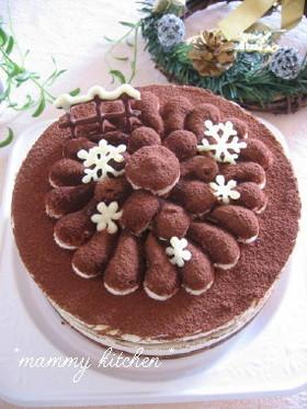 ヨーグルトでヘルシーティラミスケーキ♪