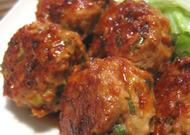 豚肉団子の生姜焼き