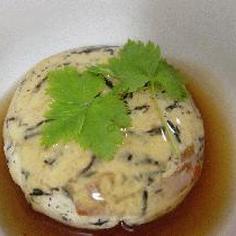 ひじきと豆腐の茶巾蒸し