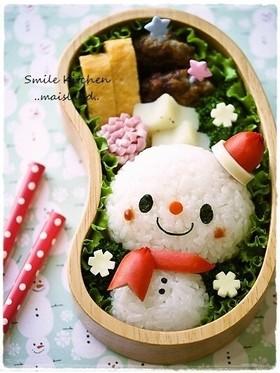クリスマスに♪雪だるまちゃん*キャラ弁