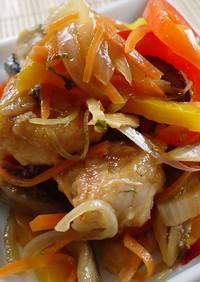 野菜たっぷり♪鶏ささみで揚げない南蛮漬け