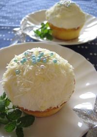 ホワイトチョコの米粉カップケーキ