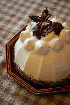 チョコ&マロンのドームケーキ