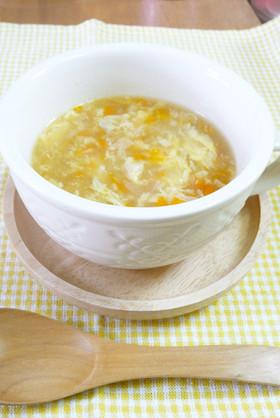 子供が大好き♪ 野菜たっぷり卵スープ