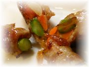 豚肉の野菜巻き♪ゆず風味照り焼き✿の写真